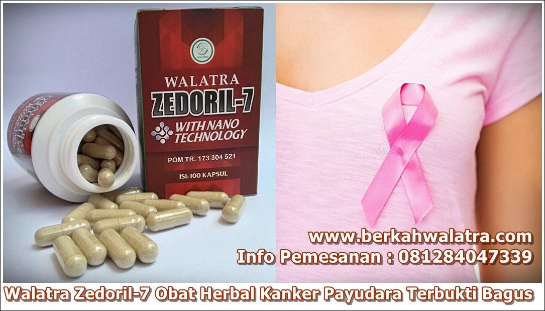 obat kanker payudara herbal walatra zedoril sudah terbukti bagus terdaftar BPOM