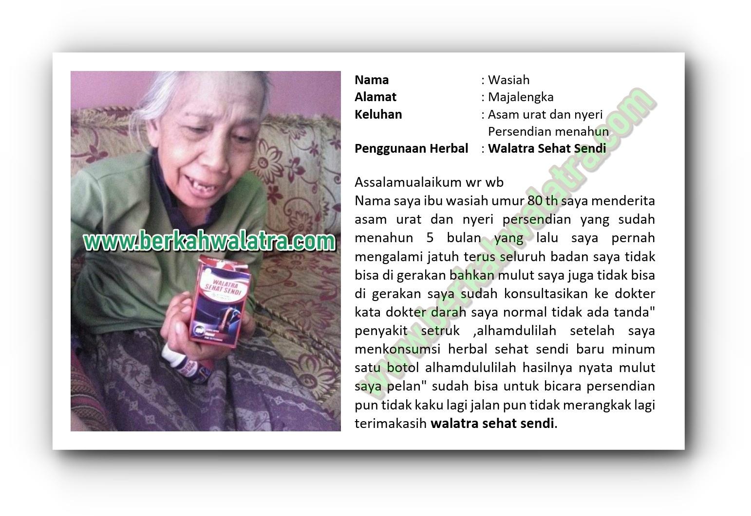 Testimoni Sehat Sendi untuk asam urat