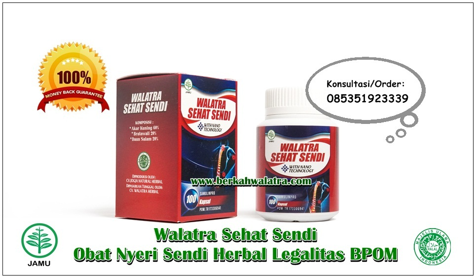 Obat Nyeri Sendi Herbal Legalitas BPOM √ 100% Tumbuhan Alami
