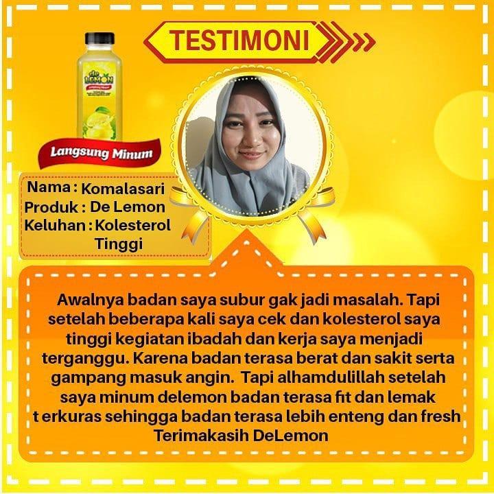 Testimoni lemon mix untuk kolesterol tinggi
