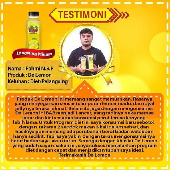 Testimoni lemon mix untuk diet