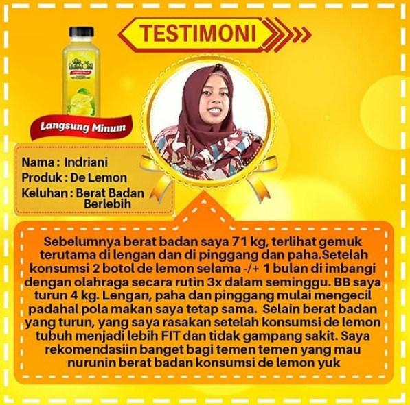Testimoni lemon mix untuk menurunkan berat badan berlebih