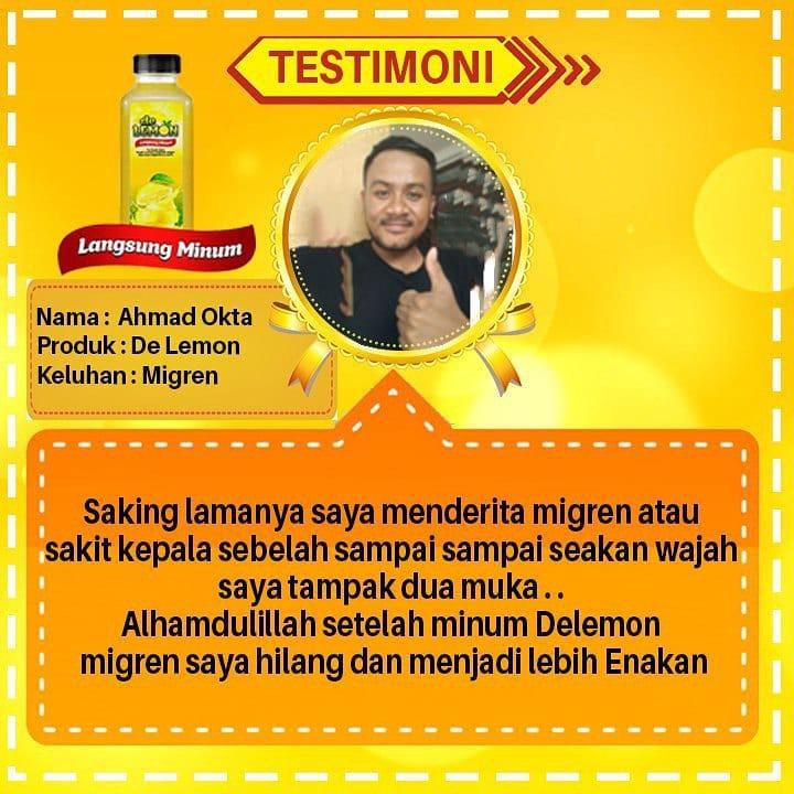 Terstimoni lemon mix untuk migrain